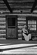 Log Cabin Photos - Canadian Gothic monochrome by Steve Harrington