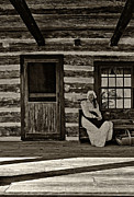 Log Cabin Photos - Canadian Gothic sepia by Steve Harrington