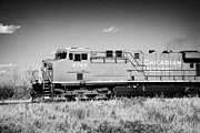 Canadian Prints - canadian pacific freight train locomotive Saskatoon Saskatchewan Canada Print by Joe Fox