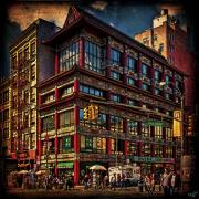 Canal Street Prints - Canal and Center Streets New York City Print by Chris Lord
