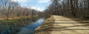 Maryland Photos - Canal and Towpath - Great Falls Park - Maryland by Brendan Reals