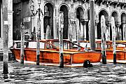 Canals Framed Prints - Canal Boatwood Framed Print by Greg Sharpe