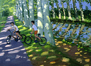 Dappled Light Painting Posters - Canal du Midi France Poster by Andrew Macara