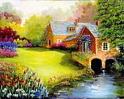 House Digital Art Originals - Canal Farm by Jeanene Stein