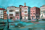 Canal Painting Originals - Canal Grande by Filip Mihail