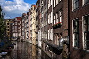 Canal Houses Print by Joan Carroll