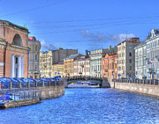 St Photos - Canal in St. Petersburgh RUSSIA by Juli Scalzi