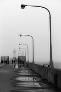 Duluth Art - Canal Park Lighthouse In Fog by Shutter Happens Photography