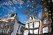 Canals Art - Canal reflection by John Battaglino