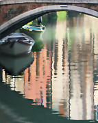 Canal Reflection San Barnaba Print by Vicki Hone Smith
