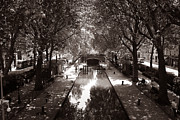 Canals Framed Prints - Canal Saint Martin 2 Framed Print by Andrew Fare