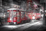 Trolley Photos - Canal Street Trolley - New Orleans by Steve Sturgill