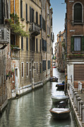 Brick Buildings Art - Canal through Old World City by Andersen Ross