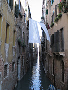 Touristes Photo Posters - Canal. Venice Poster by Bernard Jaubert