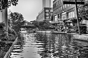 Bricktown Photo Framed Prints - Canal Visitors Framed Print by Ricky Barnard