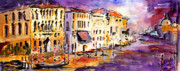 Landmarks Paintings - Canale Grande Venice Italy by Ginette Fine Art LLC Ginette Callaway