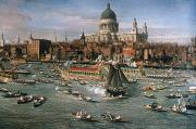 Riverboat Prints - CANALETTO: THAMES, 18th C Print by Granger
