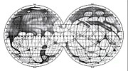 Planet Map Prints - Canali Of Mars, Schiaparelli, 1898 Print by Science Source