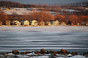 Joseph Duba Metal Prints - Canandaigua Lake in Feb 2009 Metal Print by Joseph Duba