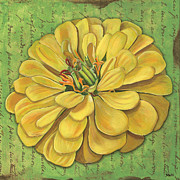 Green Paintings - Canary Dream by Debbie DeWitt