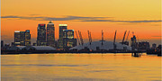 Canary Metal Prints - Canary Wharf At Sunset Metal Print by Photography Aubrey Stoll