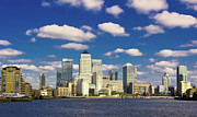 Canary Metal Prints - Canary Wharf Daytime Metal Print by Darkerphoto