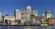 Canary Metal Prints - Canary Wharf Metal Print by Richard James Taylor
