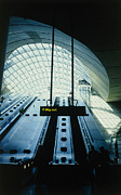 Escalator Prints - Canary Wharf Tube Station Print by Carlos Dominguez