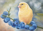 Canary Paintings - Canary Yellow  by Dorothy Brooks