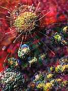 Cells Digital Art - Cancer Cells by Russell Kightley