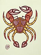Zodiac Mixed Media Prints - Cancer Print by Ian Herriott