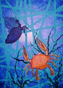 Zodiac Paintings - Cancer in Love by Ketti Peeva