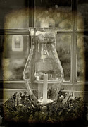 Interior Still Life Metal Prints - Candle and Window Metal Print by Steven Ainsworth