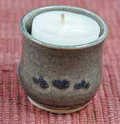 Candle Holder Ceramics - Candle Holder by Carol Miller