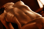 Fine Art Nude Prints - Candle Light Print by David  Naman