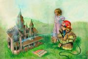 Fireman Paintings - Candle Light Dinner by Jeff Brimley