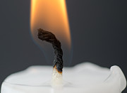 Grey Background Photos - Candle with fire by Mats Silvan