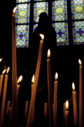 Saint Hope Art - Candles burning inside the Basilica of the Saint Sauveur by Sami Sarkis