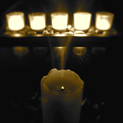 Candles Print by CML Brown