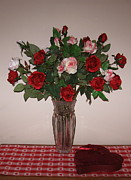 Dozen Red Roses Posters - Candy and Roses  Poster by Nancy Patterson