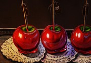 Kitchen Wall Originals - Candy Apples for Sale by Hillary Scott