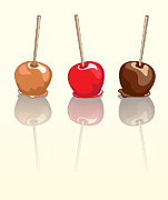 Goodies Prints - Candy apples reflected Print by Jane Rix