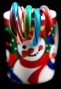 Kitchen Photos Prints - Candy Cane Colors Print by John Rizzuto