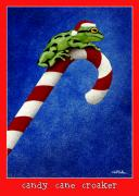Cane Paintings - Candy Cane Croaker... by Will Bullas