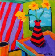 David Jones Paintings - Candy Cane House by David Jones