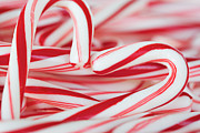 Kim Fearheiley Photography Framed Prints - Candy Cane Love Framed Print by Kim Fearheiley
