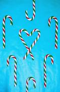 Snacking Framed Prints - Candy Canes Framed Print by Carson Ganci