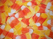 Candy Painting Originals - Candy Corn by Carol Grimes