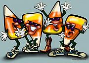 Candy Digital Art - Candy Corn Gang by Kevin Middleton