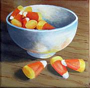 Corn Paintings - Candy Corn by Sharon Marcella Marston